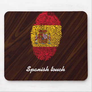 Spanish touch fingerprint flag mouse mat