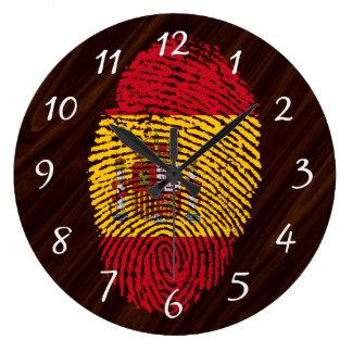 Spanish touch fingerprint flag wall clocks