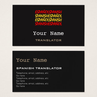 Custom translation business cards zazzlecouk for Interpreter business cards