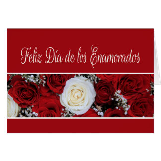 Spanish Valentine's Day Roses Greeting Card
