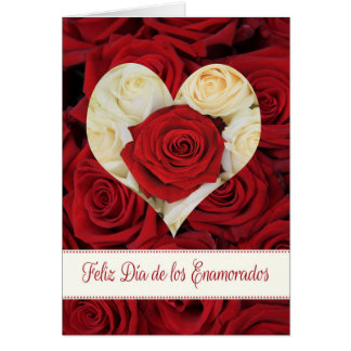Spanish Valentine's Day Roses Cards