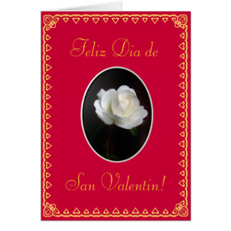 Spanish: Valentine's day/ San Valentin tmpl Greeting Card