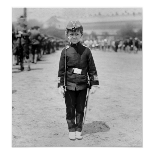 Spanish War Veteran Mascot, 1908 Print