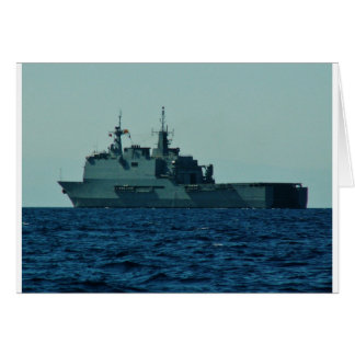 Spanish Warship Card