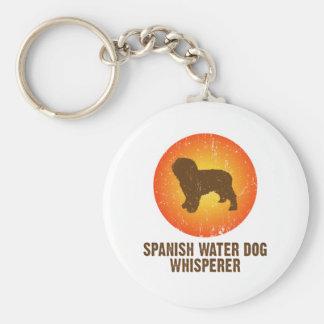 Spanish Water Dog Basic Round Button Key Ring