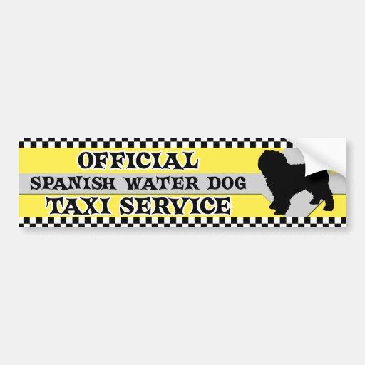 Spanish Water Dog Taxi Service Bumper Sticker
