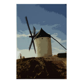 Spanish Windmills Poster