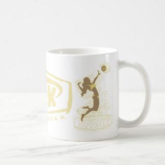 Spank Bikini Girl Gold Basic White Mug