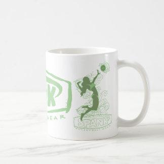 Spank Bikini Girl Green Basic White Mug