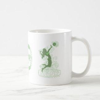 Spank Bikini Girl Green Mugs