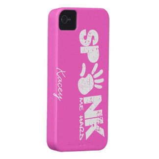 spank me hard - white and pink Case-Mate iPhone 4 case
