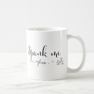 spank me please basic white mug