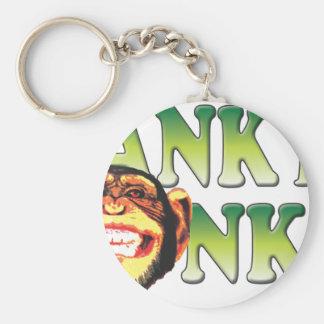 Spank My Monkey Basic Round Button Key Ring