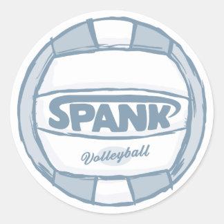 Spank Volleyball Classic Round Sticker