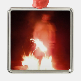 Sparagmos Transition Fire Demon Angel Colored Silver-Colored Square Decoration