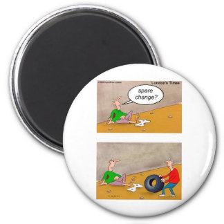 Spare Change: Offbeat Funny Cartoon Gifts & Tees 6 Cm Round Magnet