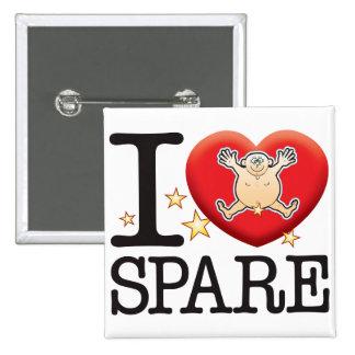 Spare Love Man 15 Cm Square Badge