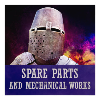 Spare parts and mechanical works photo art