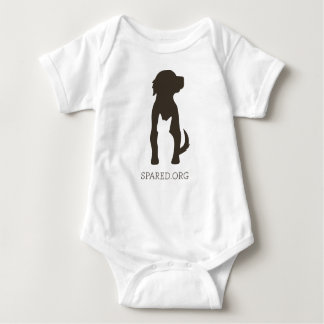 SPARED logo tee - brown baby's