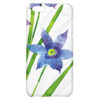 Sparing Blue Floral Case For iPhone 5C