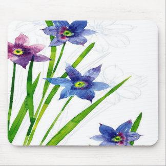 Sparing Blue Floral Mousepads