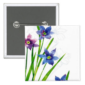 Sparing Blue Floral Pins