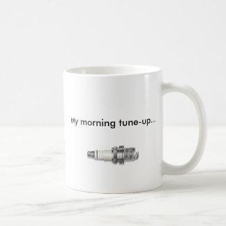 spark, My morning tune-up... Basic White Mug