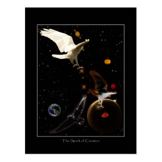 """""""Spark of Creation"""" White Raven Gifts Post Card"""
