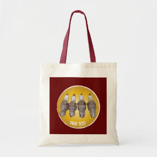 Spark plugs of the engine tote bag