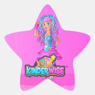 Sparkelina from Kinderwise Glossy Pink Star Sticker