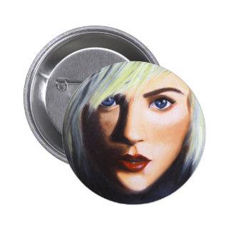sparking eyes 6 cm round badge