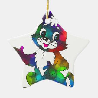 Sparkle bunny ceramic star decoration