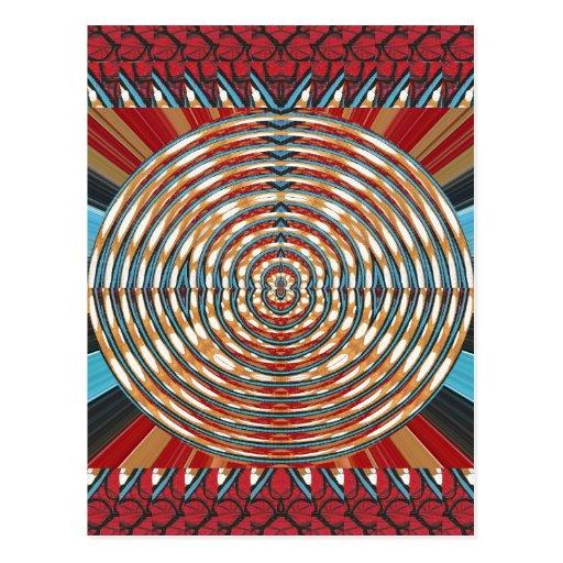 SPARKLE CHAKRA Round Circles Elegant Fashion GIFTS Post Card