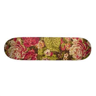 Sparkle Effect Floral Brocade Skate Decks