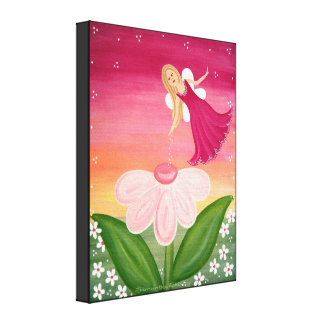 Sparkle Fairy - 16x20 Flower Fairy Kids Wall Art Canvas Prints
