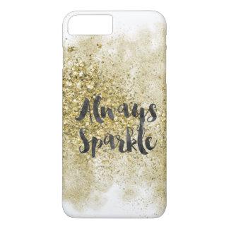 Sparkle Faux Gold Glitter iPhone 8 Plus/7 Plus Case