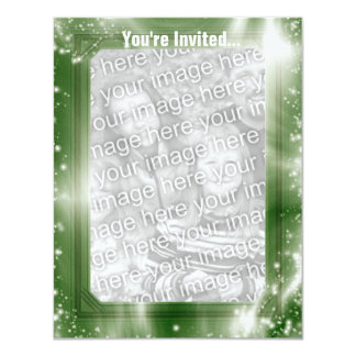 Sparkle Frame Christmas Photo Insert Invites
