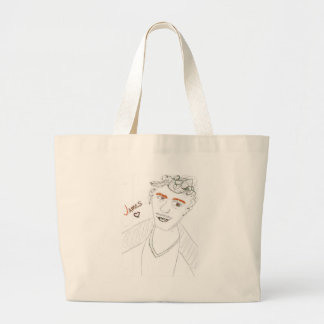 'Sparkle Franco' Jumbo Tote Canvas Bag