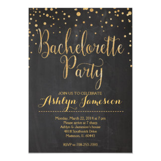 Sparkle Glitter bachelorette Party Invitation