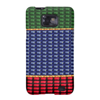 Sparkle Glitter Digital Blue Red Green Button GIFT Galaxy SII Cover