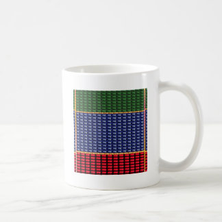 Sparkle Glitter Digital Blue Red Green Button GIFT Coffee Mug