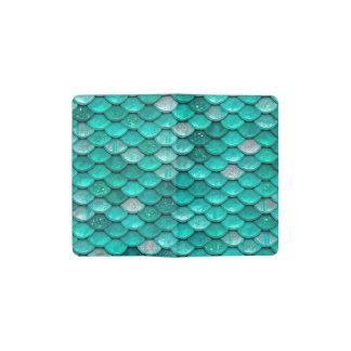 Sparkle Glitter Green Aqua Mermaid Scales Pocket Moleskine Notebook