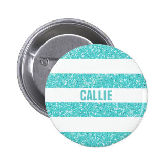 Sparkle Glitter Look Stripes Button