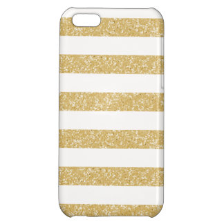 Sparkle Glitter Look Stripes iPhone 5C Case