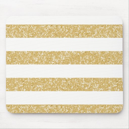 Sparkle Glitter Look Stripes Mousepad