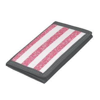 Sparkle Glitter Look Stripes Wallet
