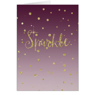 Sparkle Gold Faux Glitter Card