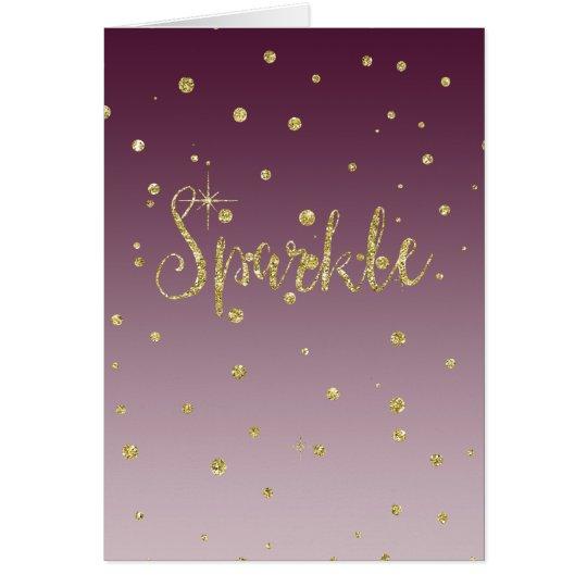 Sparkle Gold Faux Glitter Card