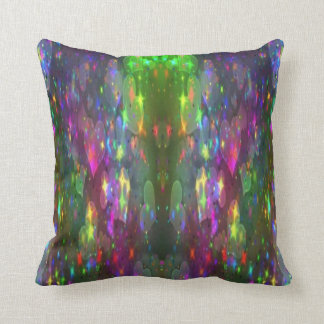 sparkle hearts throw pillow