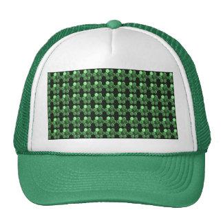 Sparkle Hexagon Emerald Green Pattern NVN289 gifts Mesh Hat